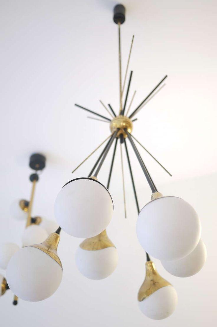 84 best lighting chandeliers images on pinterest chandeliers stilnovo six globe chandelier arubaitofo Choice Image