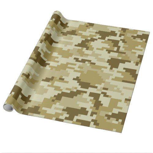 8 Bit Pixel Desert Camouflage / Camo Wrapping Paper