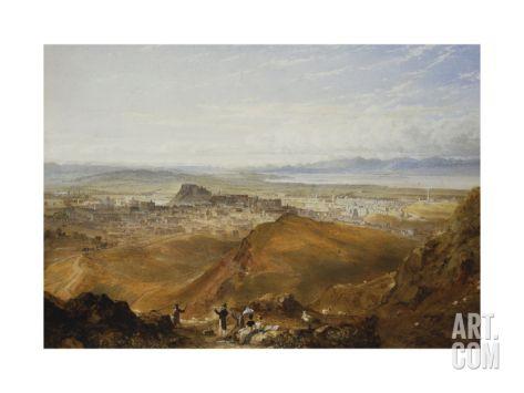 Edinburgh from Arthur's Seat Giclee Print by Williams Hugh William at Art.co.uk