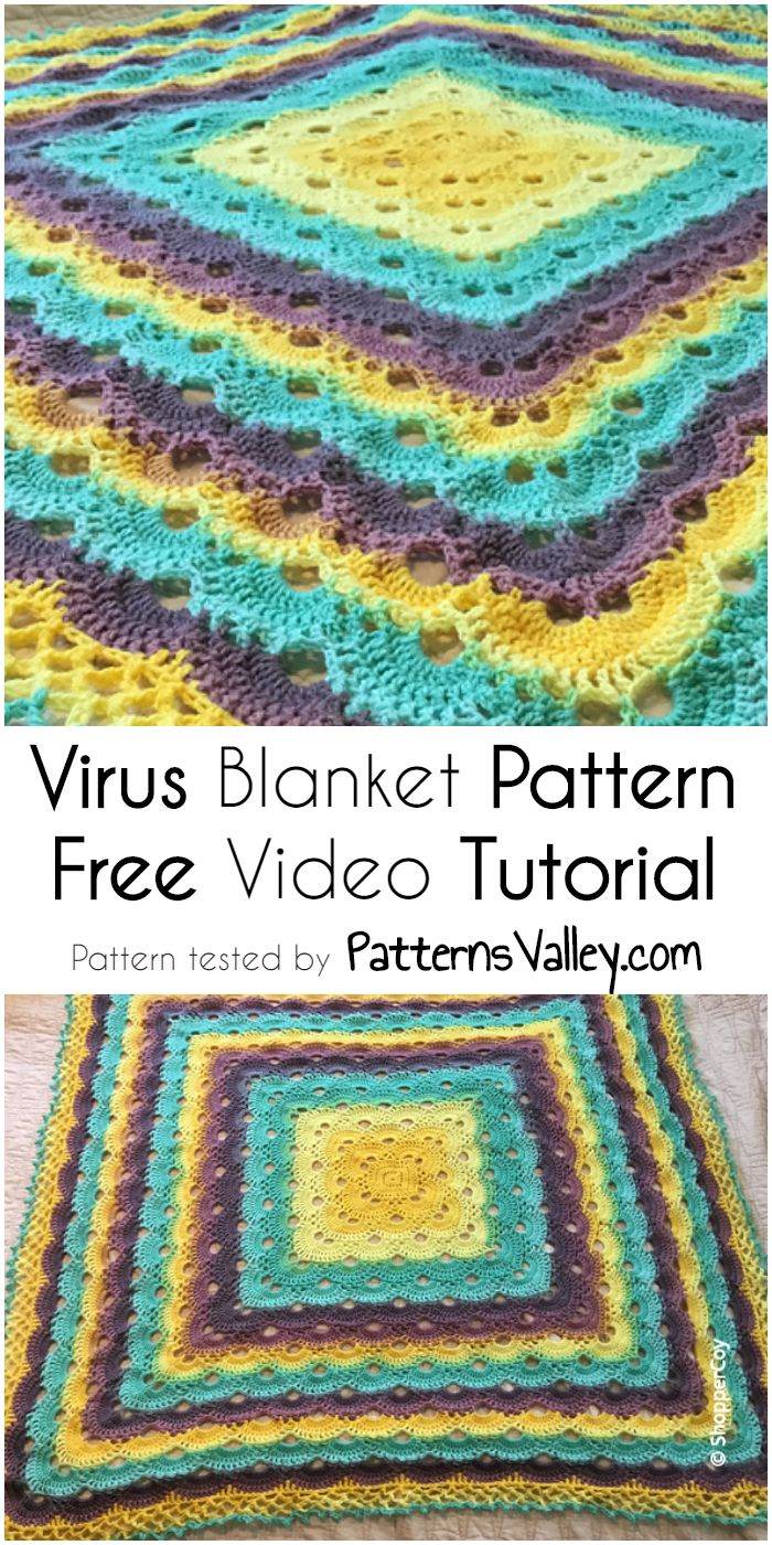 10 besten Crochet Virus Stitch Ideas! Simply And Free Video Tutorial ...