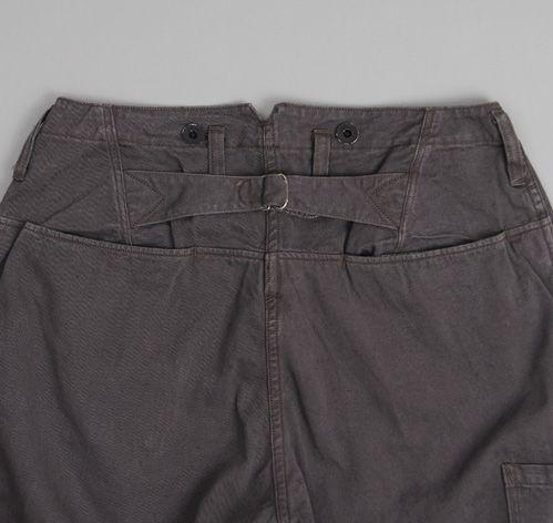 FREEWHEELERS: Conductor Overalls, Dark Grey Chino Cloth