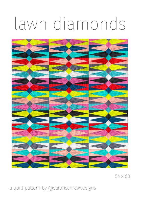 lawn diamonds quilt pattern PDF