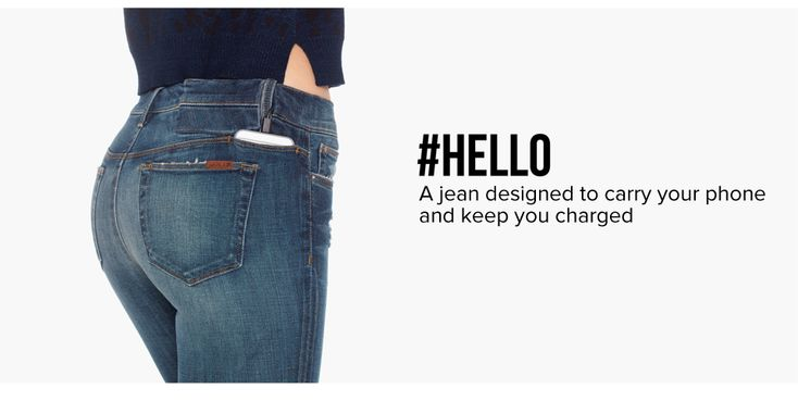Hello Jean Designed To Carry Your Phone and Charger: