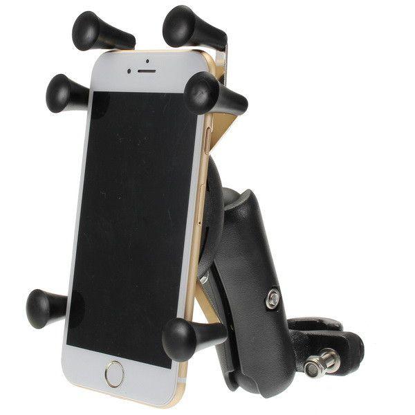 4.0-6.0 Inch Teléfono GPS Soporte Anti Robo para Moto Scooter Bike Manilla