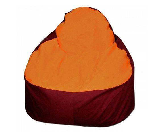 Dark Red Orange Relax Bean Bag Chair Cover