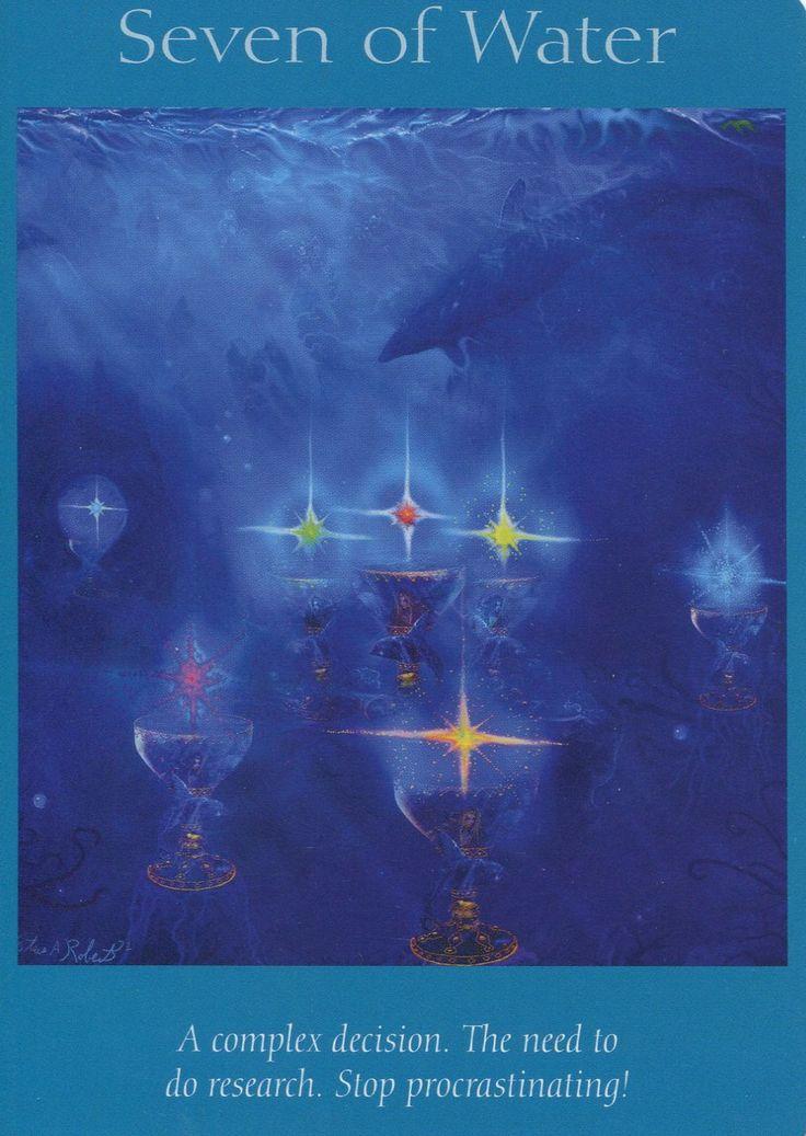 Angel Tarot Cards - Seven of Water