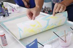 Tutorial: Como hacer papel marmoleado 14