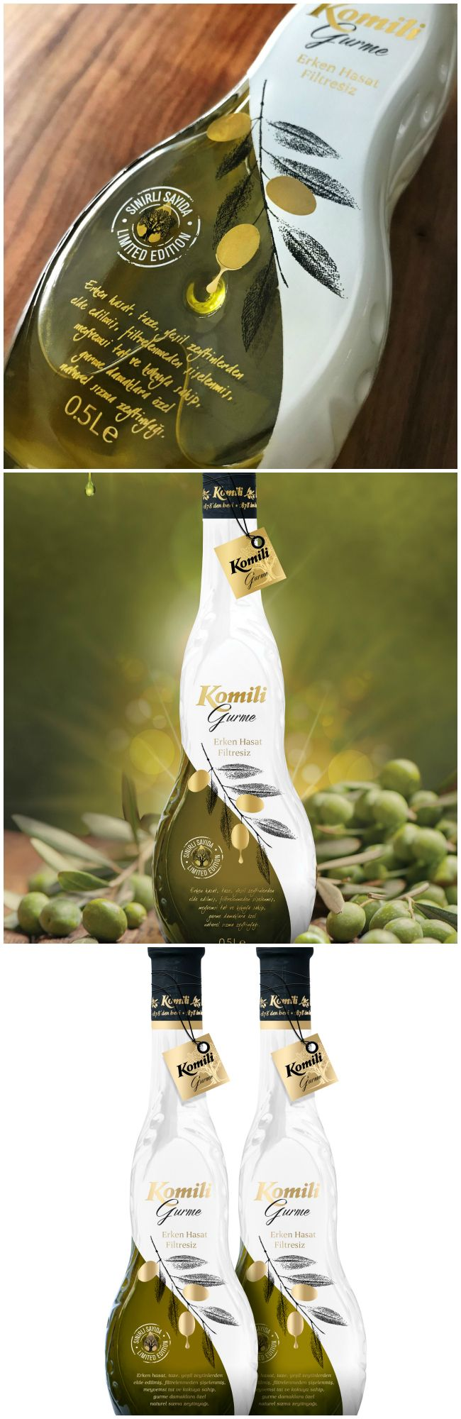 Orhan Irmak Tasarim - Komili Gurme Olive Oil #packaging‬ #design‬ #diseño‬ #empaques #embalagens‬ #パッケージデザイン‬ #emballage‬ #bestpackagingdesign #worldpackagingdesign #worldpackagingdesignsociety
