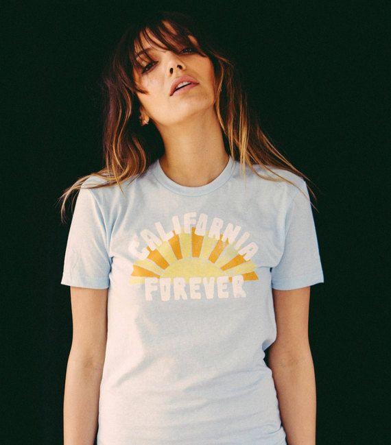 California Forever t-shirt-womens clothing-unisex t-shirt-california-vintage inspired-1970's style-tshirts