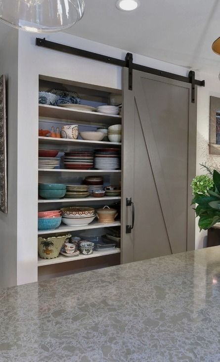 #homedecor #kitchenideas #inspiration |Design ideas for a mid-sized transitional l-shaped eat-in kitchen in Charleston with gray cabinets, an undermount sink, recessed-panel cabinets, quartz countertops, stainless steel appliances and an island. — Houzz