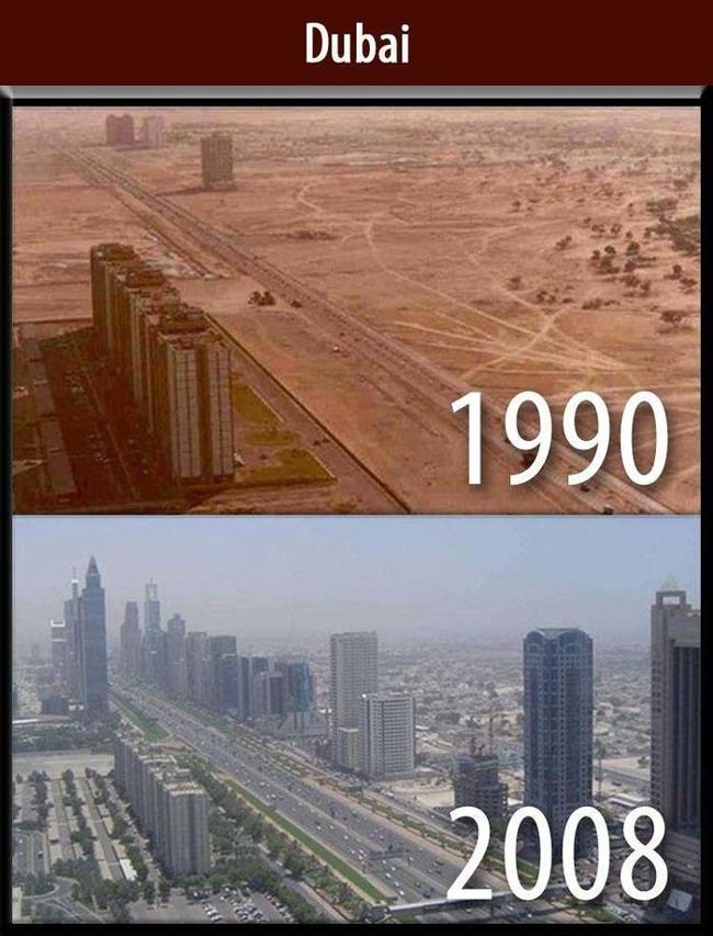 21.) The difference a decade makes in Dubai.