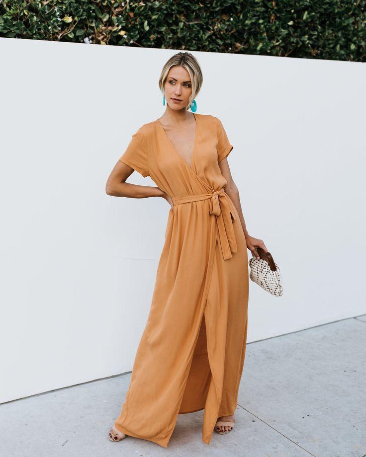 yoyorule-Summer Dress Womens Fashion Short Sleeve V Neck Wrap Waist Maxi Dress Navy