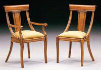 Silla y sillón clásicos 7 - Madera maciza alta calidad