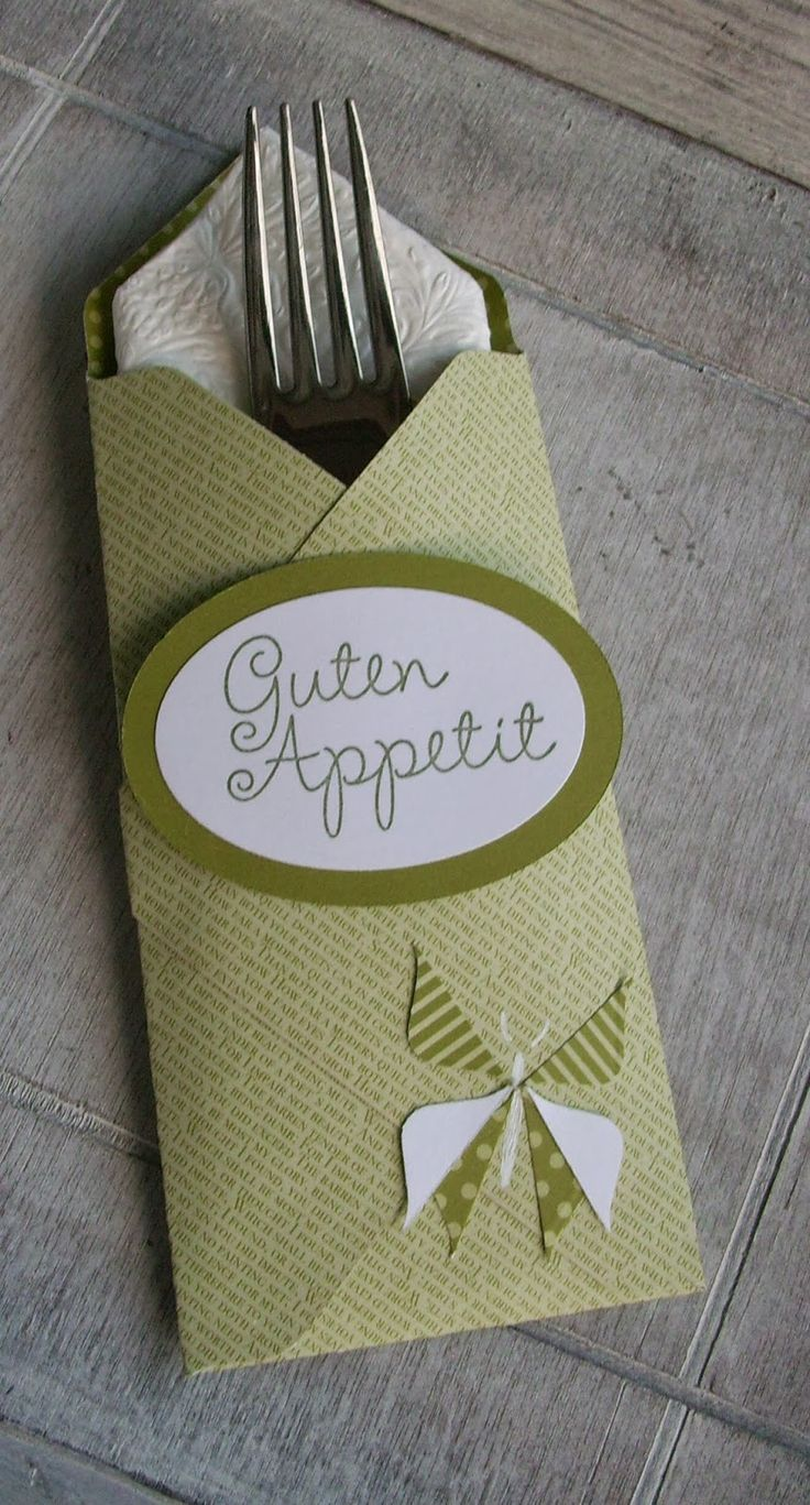 Bestecktaschen Basteln 23 best bestecktasche images on sting up foil