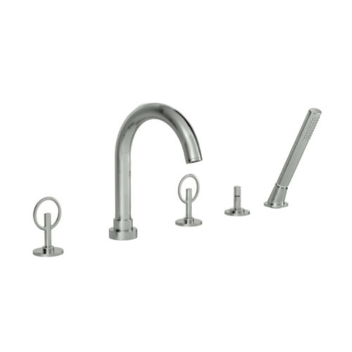 Jado 847804.144 Brushed Nickel Stoic Roman Tub Filler Faucet Deck Mount with Val