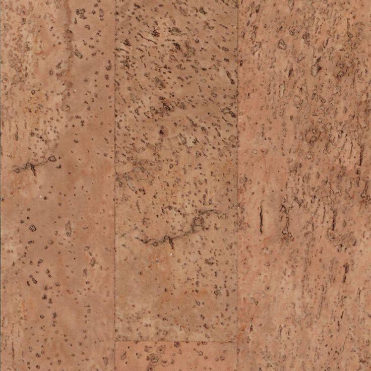 Trafficmaster allure 6 in x 36 in natural cork resilient for Cork vs vinyl flooring