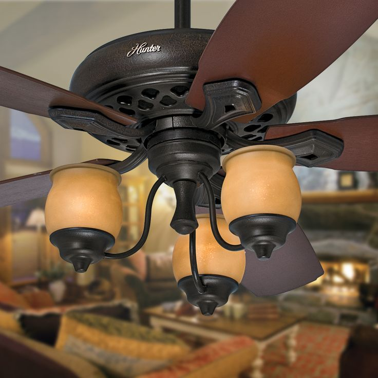 95 best hunter images on pinterest blankets ceilings and hunter shop prestige by hunter torrence 64 in provence crackle downrod mount ceiling fan with light mozeypictures Images