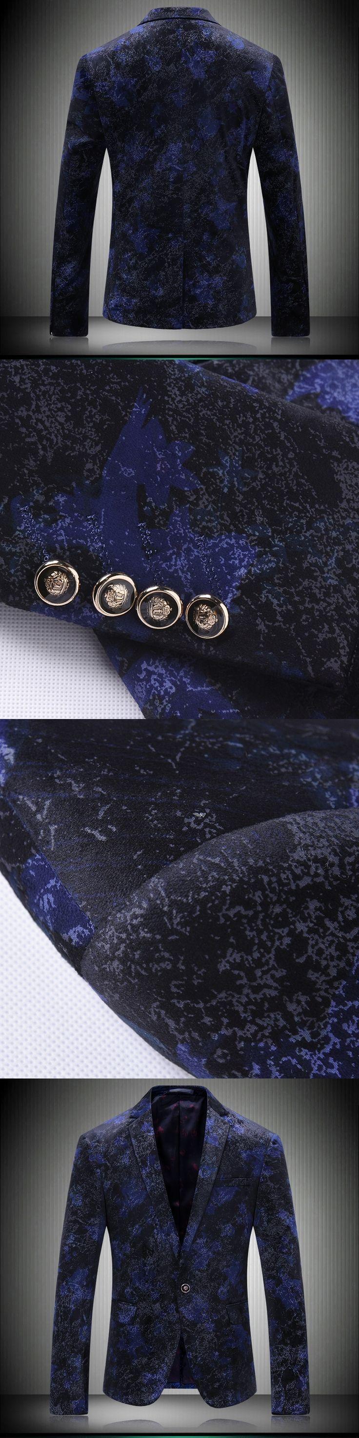 2017 Blazer Mens Slim Fit Royal Blue Blazer Hombre Brand-clothing Jaquetas Masculinas Latest Coat Design Tuxedo Men Club Outfits