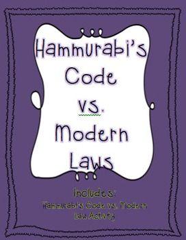 Hammurabi's Code vs. Modern Law