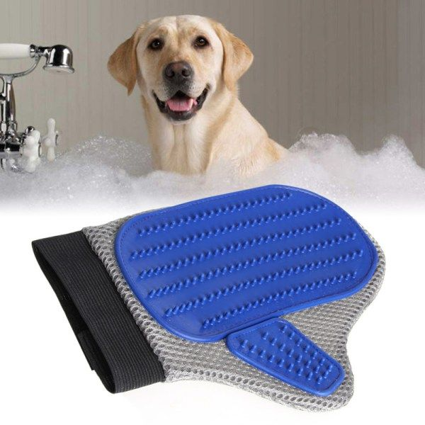 Gentle Grooming Glove Brush for Dogs | knittedPaws | Price: $7.70 + FREE Shipping     #dog #cat #pet #puppy #grooming #brush