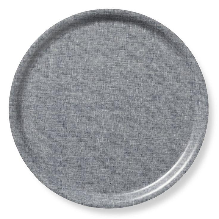 Bricka Textil Rund Tenngrå