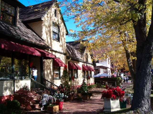 Biltmore Village is Asheville, N.C.'s Rodeo Dr. Stores from Chico's, Talbots, Lily Pultizer, and more..a must see when in Asheville