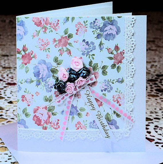 Happy Birthday White 300gsm Lustre Card with by CardsbyCoralJean