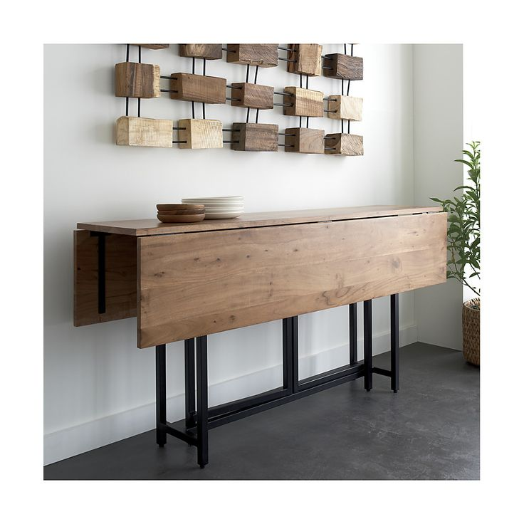 Origami Drop Leaf Table. Crate & Barrel. love this as a sideboard, and functional extra table space.