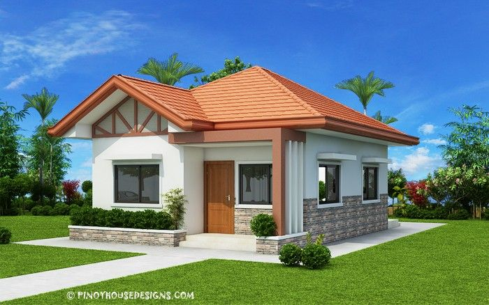 Two Bedroom Small House Design Phd 2017035 Pinoy House Designs Pinoy House Designs One Storey House Bungalow House Design Bungalow House Plans