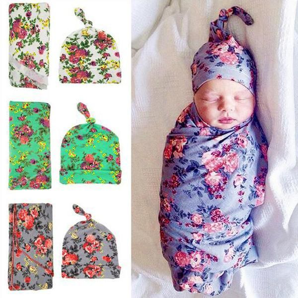 Baby Swaddle blanket With Cap *FS