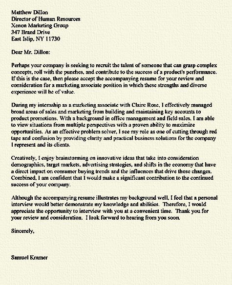 The  Best Cover Letter For Internship Ideas On