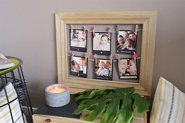 10 DIY Ideen: Polaroid Wanddeko Bilderrahmen mit Schnur (kartenmacherei #momentsinabox)