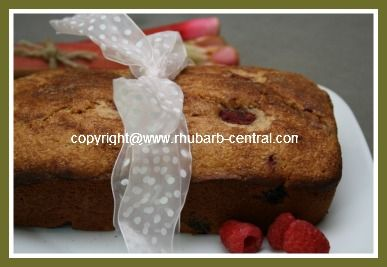 Recipe for a Delicious Raspberry Rhubarb Quick Bread Recipe - no yeast - self rising! Quick and EASY too!