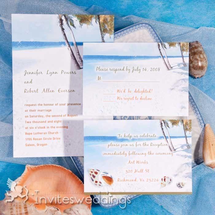 Pleasure On the Beach Wedding Invitations IWI225