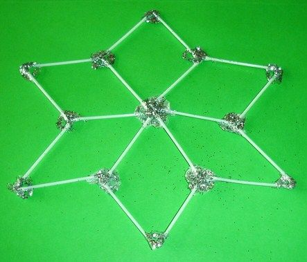 Learning Ideas - Grades K-8: Cotton Swab Snowflakes Craft Activity