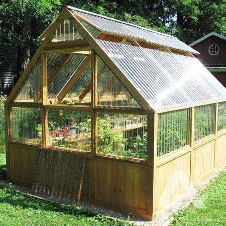 DIY Corrugated Polycarbonate Hobby Greenhouse