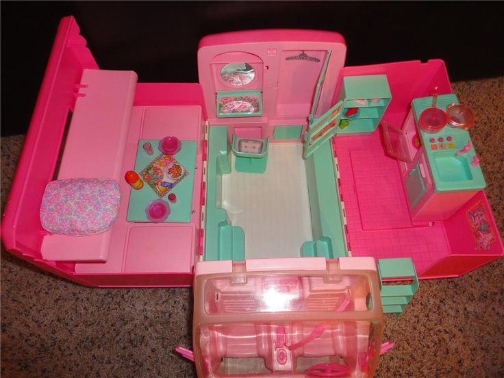 1996 Barbie Camper/ RV. Loved this!! Disliked how everytime you opened it you had to redo the inside. Sometimes I drove it with the back open, so I wouldn't have to.