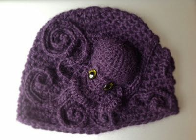 cricri boyer: Bonnet Poulpe au crochet