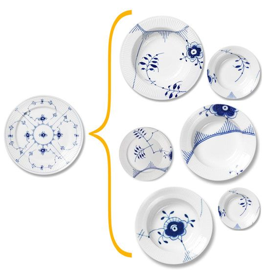 Royal Copenhagen Blue Fluted Mega: they've enlarged the blue floral design from their most popular pattern - and developed MEGA, more modern concept of an old school favorite.