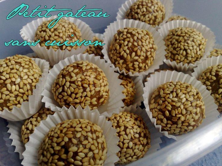 Petit gateau sans cuisson au sésame - Oum-Yusuf et ses recettes