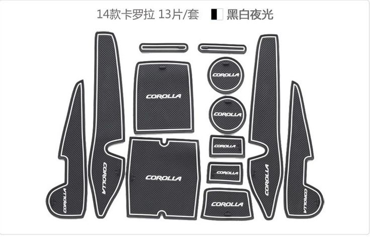MT-08 case for corolla 2014 corolla car interior accessories car mat Free Shipping 3 color 13pcs