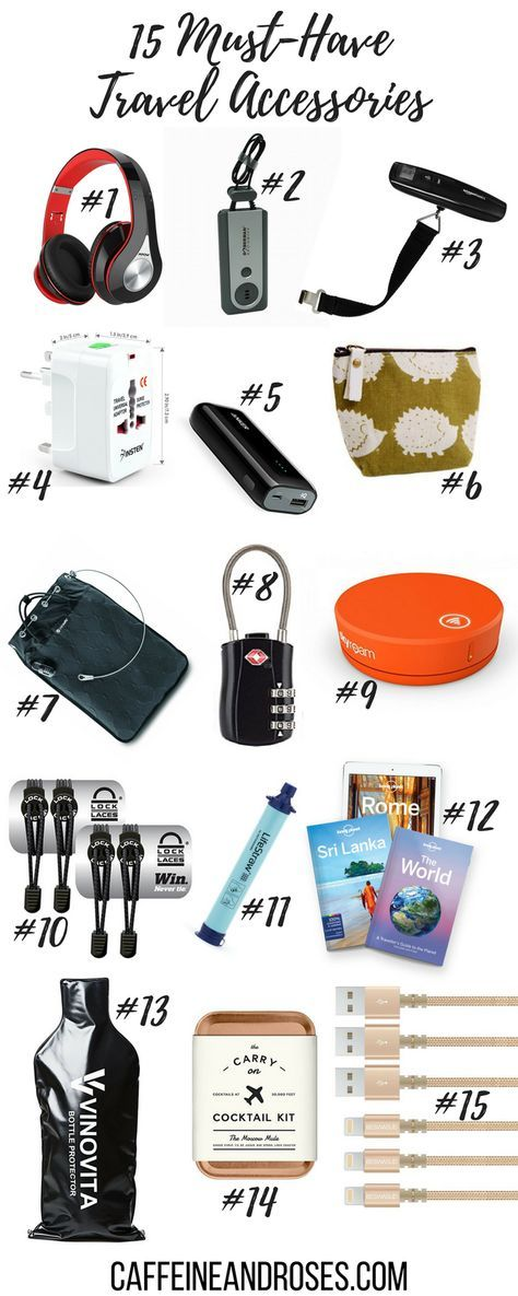 15 Must Have Travel Accessories for Every Kind of Trip – Caffeine & Roses