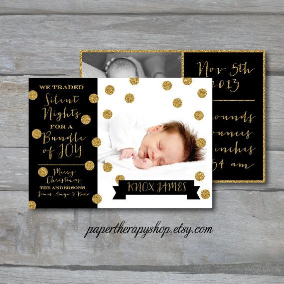1000 ideas about Holiday Birth Announcement – New Years Birth Announcements