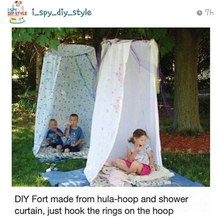 Diy fort idea. Kid summer activity