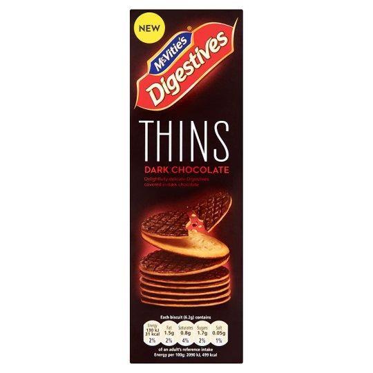 McVities Digestive Thins Dark Chocolate 180g