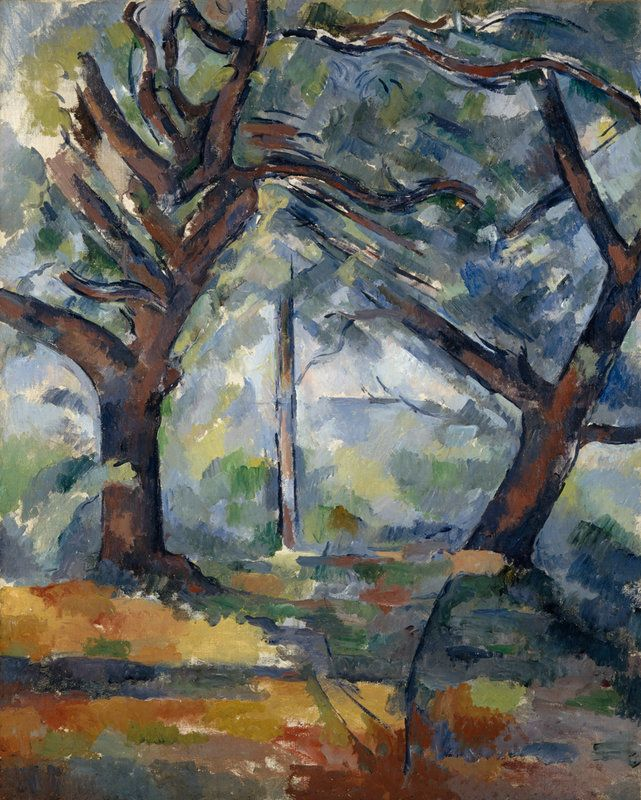 Paul Cézanne (1839-1906) The Big Trees, c.1904. Oil on canvas. National Galleries Scotland.