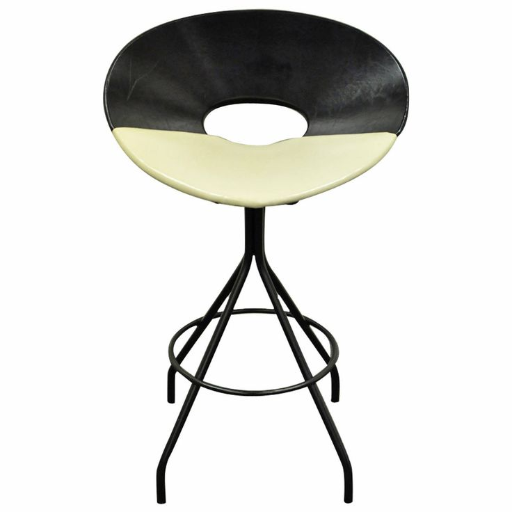 Mid-Century Modern Italian Style Swivel Wrought Iron and Vinyl Bar Stool  sc 1 st  Pinterest & 28 best Bar stools: kitchen images on Pinterest | Modern stools ... islam-shia.org