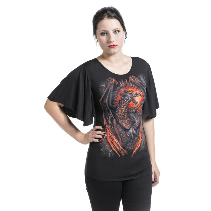 Spiral  T-Shirt  »Dragon Furnace« | Buy now at EMP | More Rock wear  T-shirts  available online ✓ Unbeatable prices!