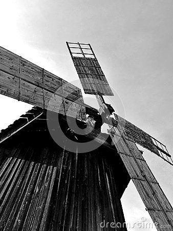 Windmill in Astra museum Sibiu, Romania
