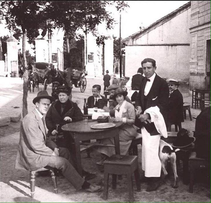 1914 - Merendero en Puerta de Hierro (Madrid).
